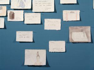 """Notizatlas Detail, Installation in der Ausstellung """"Himmel & Hölle"""" im Kultum Graz"""