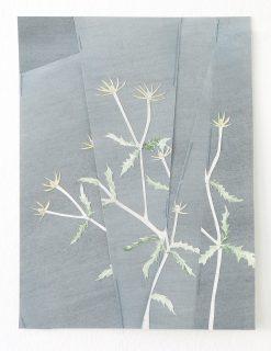 Scherenschnitt mit Pflanzenmotiv aus der Werkserie